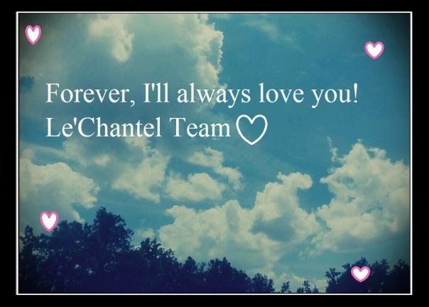 I'll always love you!