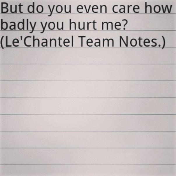 Do you even care
