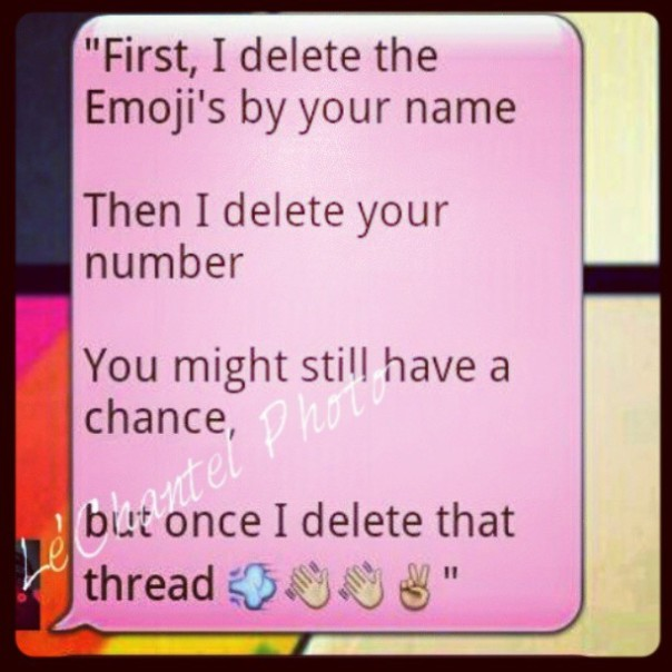 When to delete someone