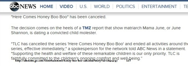Here Comes Honey Boo Boo Canceled