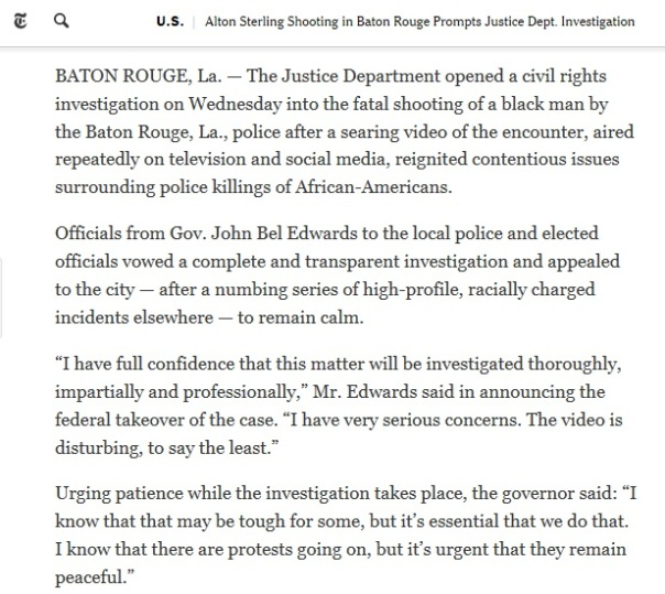 Alton Sterling Shooting in Baton Rouge.